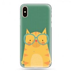 Modne etui na telefon - tygrys w okularach.