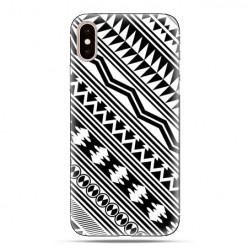 Modne etui na telefon - biały wzór Aztecki.