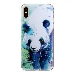 Modne etui na telefon - miś panda watercolor.