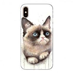 Modne etui na telefon - kot zrzęda watercolor.