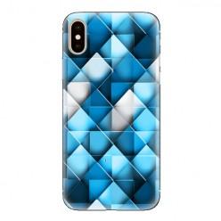 Modne etui na telefon - niebieskie romby.