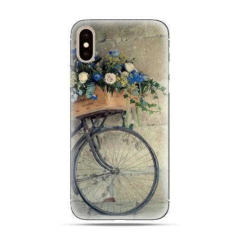 Modne etui na telefon - rower z kwiatami.