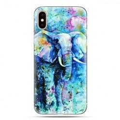 Modne etui na telefon - kolorowy słoń watercolor.