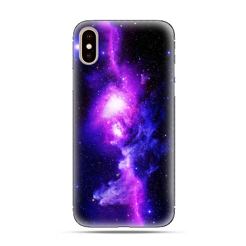 Modne etui na telefon - fioletowa galaktyka.