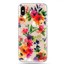 Modne etui na telefon - kolorowe kwiaty.