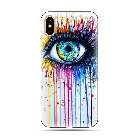 Modne etui na telefon - kolorowe oko watercolor.