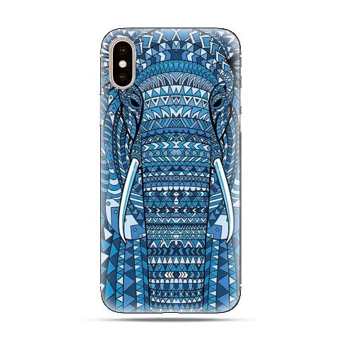 Modne etui na telefon - niebieskie słoń.