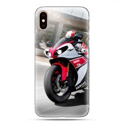 Modne etui na telefon - motocykl ścigacz.