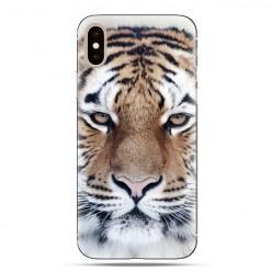 Modne etui na telefon - biały tygrys.