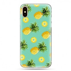 Modne etui na telefon - żółte ananasy.