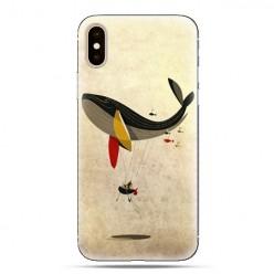 Modne etui na telefon - pływający wieloryb.