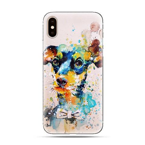 Modne etui na telefon - szczeniak watercolor.