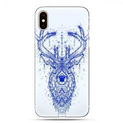 Modne etui na telefon - niebieski jeleń.
