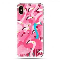Modne etui na telefon - różowe ptaki flamingi.