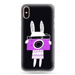 Modne etui na telefon - królik z aparatem.