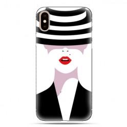 Modne etui na telefon - kobieta w kapeluszu.