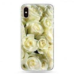 Modne etui na telefon - białe róże.