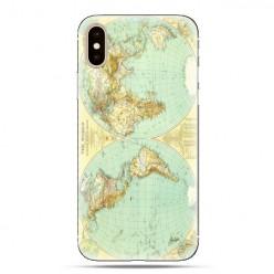 Modne etui na telefon - mapa świata.