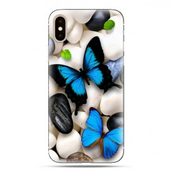Modne etui na telefon - niebieskie motyle.