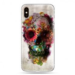 Modne etui na telefon - kwiatowa czaszka.