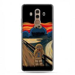 Huawei Mate 10 Pro - silikonowe etui na telefon - Parodia obrazu krzyk.