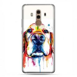 Huawei Mate 10 Pro - silikonowe etui na telefon - Pies labrador watercolor.