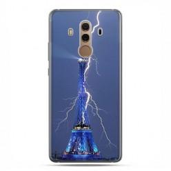 Huawei Mate 10 Pro - silikonowe etui na telefon - Wieża Eiffla z błyskawicą.
