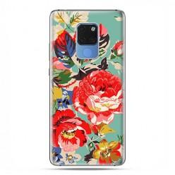 Huawei Mate 20 - silikonowe etui na telefon - Kolorowe róże.