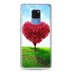Huawei Mate 20 - silikonowe etui na telefon - Serce z drzewa.