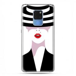 Huawei Mate 20 - silikonowe etui na telefon - Kobieta w kapeluszu.