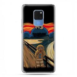 Huawei Mate 20 - silikonowe etui na telefon - Parodia obrazu krzyk.