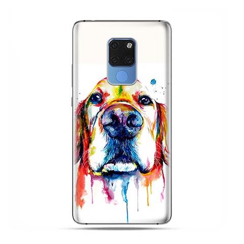 Huawei Mate 20 - silikonowe etui na telefon - Pies labrador watercolor.