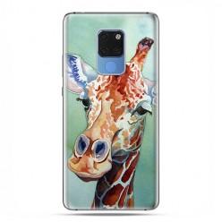 Huawei Mate 20 - silikonowe etui na telefon - Żyrafa watercolor.