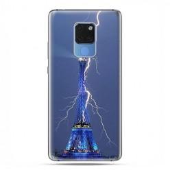 Huawei Mate 20 - silikonowe etui na telefon - Wieża Eiffla z błyskawicą.