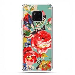 Huawei Mate 20 Pro - silikonowe etui na telefon - Kolorowe róże.