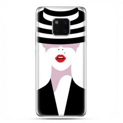 Huawei Mate 20 Pro - silikonowe etui na telefon - Kobieta w kapeluszu.