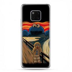 Huawei Mate 20 Pro - silikonowe etui na telefon - Parodia obrazu krzyk.