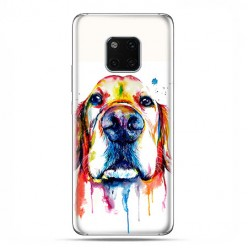 Huawei Mate 20 Pro - silikonowe etui na telefon - Pies labrador watercolor.