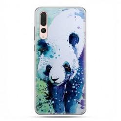 Huawei P20 Pro - silikonowe etui na telefon - Miś panda watercolor.