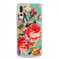 Huawei P20 Pro - silikonowe etui na telefon - Kolorowe róże.