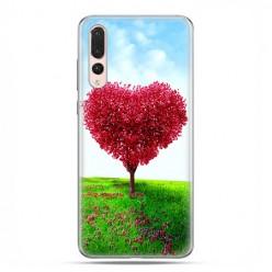 Huawei P20 Pro - silikonowe etui na telefon - Serce z drzewa.