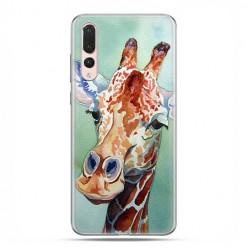 Huawei P20 Pro - silikonowe etui na telefon - Żyrafa watercolor.