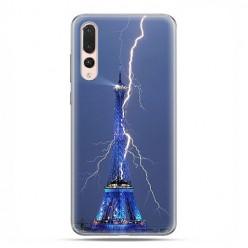 Huawei P20 Pro - silikonowe etui na telefon - Wieża Eiffla z błyskawicą.
