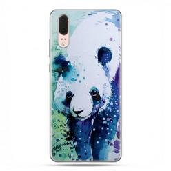 Huawei P20 - silikonowe etui na telefon - Miś panda watercolor.