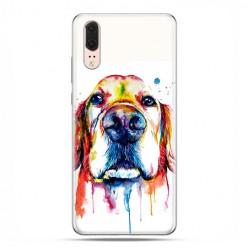 Huawei P20 - silikonowe etui na telefon - Pies labrador watercolor.