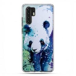 Huawei P30 Pro - silikonowe etui na telefon - Miś panda watercolor.