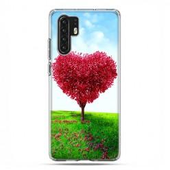Huawei P30 Pro - silikonowe etui na telefon - Serce z drzewa.