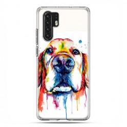 Huawei P30 Pro - silikonowe etui na telefon - Pies labrador watercolor.