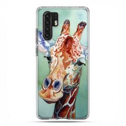 Huawei P30 Pro - silikonowe etui na telefon - Żyrafa watercolor.