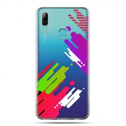 Huawei P Smart 2019 - silikonowe etui na telefon -Kolorowy splash